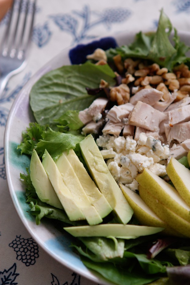 Chicken, Pear and Avocado Salad