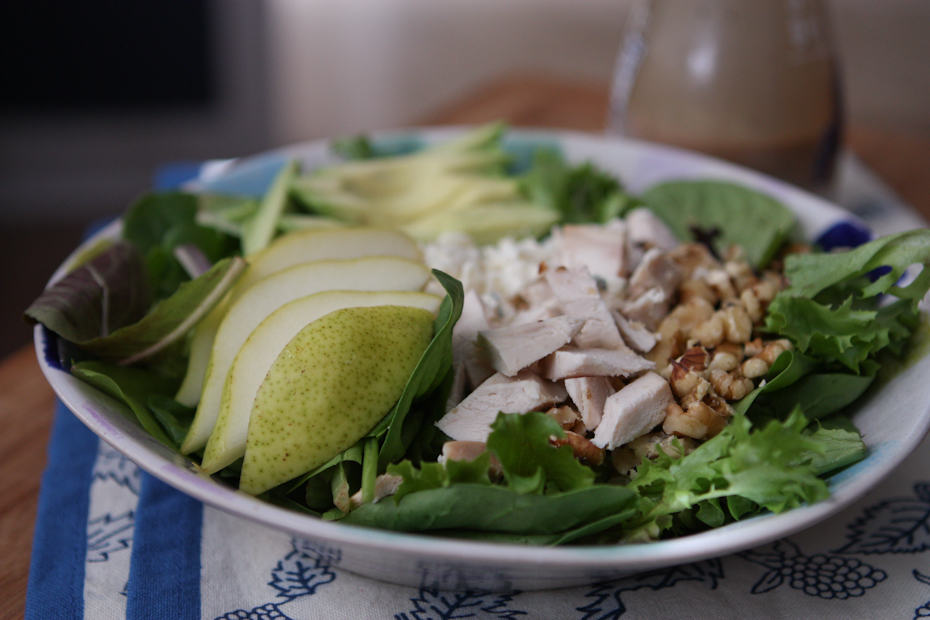 This Chicken Pear and Avocado Salad is full of great protein and flavor making it perfect for lunch or dinner. Recipe via aggieskitchen.com