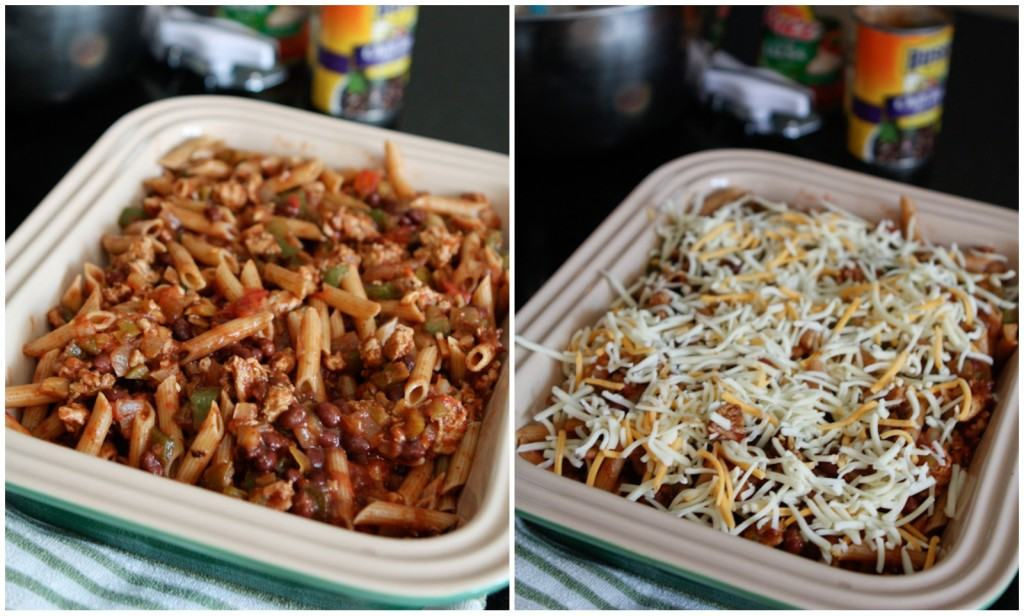 A twist on classic Italian baked ziti, this Mexican Pasta Bake is a great weeknight meal your family will love!