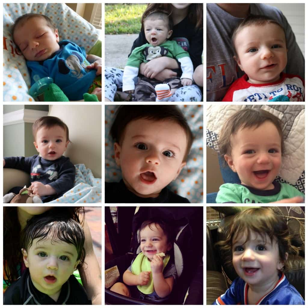 Micah One Year Collage