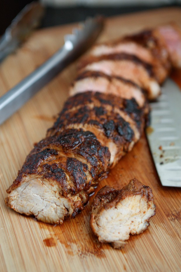 Roasted Chili Maple Pork Tenderloin