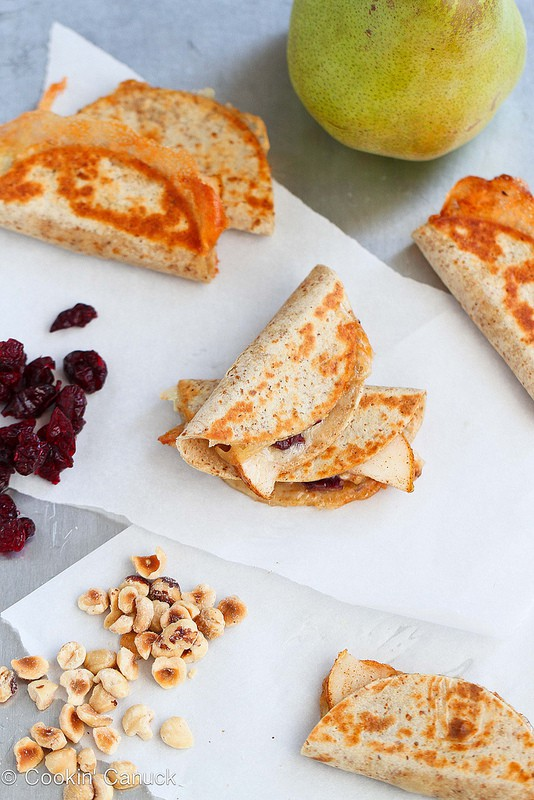 Mini Brie and Pear Appetizer Quesadillas | Cookin' Canuck