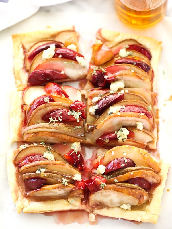 Pear and Plum Phyllo Tart | Foodiecrush