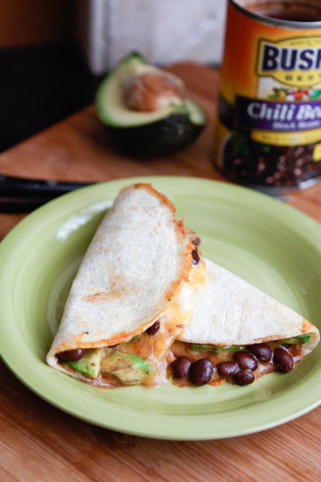 Black Chili Bean and Avocado Quesadilla | Aggie's Kitchen