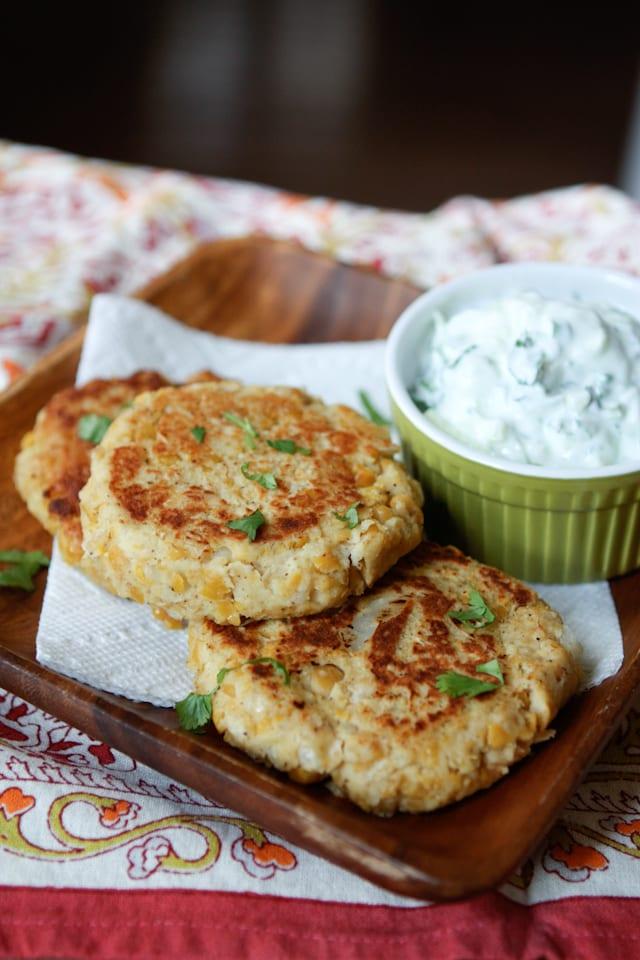 Chickpea Cakes with Cucumber-Yogurt Sauce {America's Test Kitchen ...