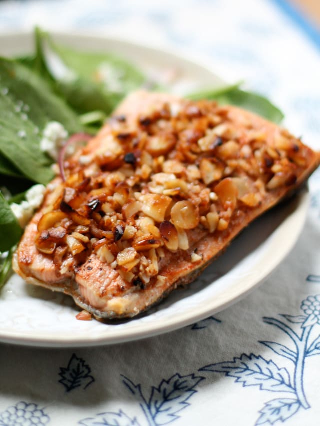 Almond Crusted Honey Mandarin Salmon