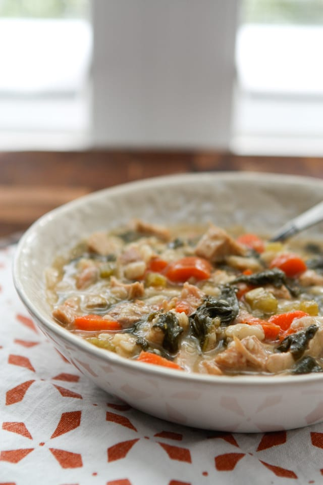 Lemon Turkey Orzo Soup
