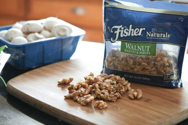 Walnut and Blue Cheese Stuffed Mushrooms   Aggie's Kitchen #thinkfisher