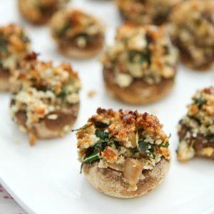 Walnut and Blue Cheese Stuffed Mushrooms | Aggie's Kitchen #thinkfisher
