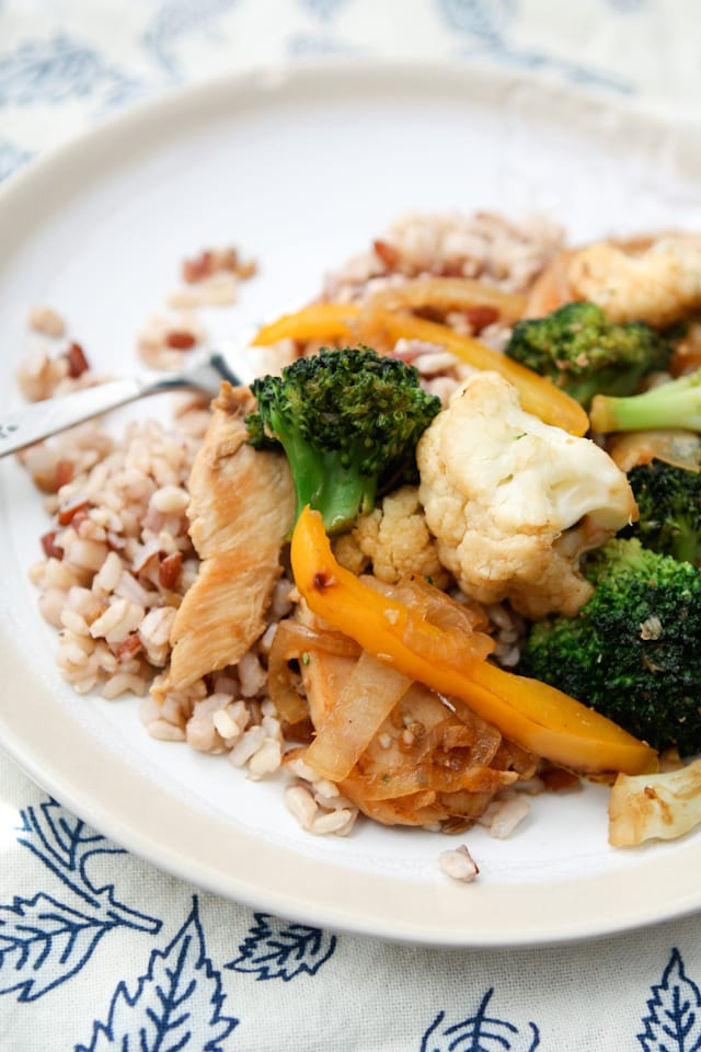 Easy and healthy Chicken and Vegetable Stir Fry - recipe via aggieskitchen.com
