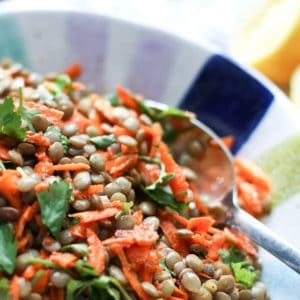 Lentil Salad with Carrots and Cilantro