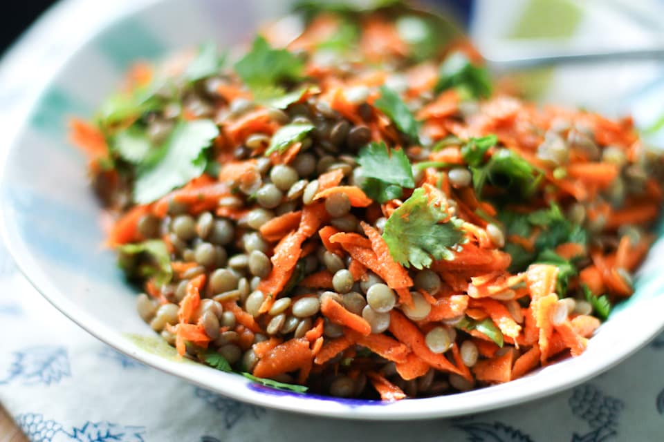 warm carrot and lentil salad warm lentil salad with summer throughout ...