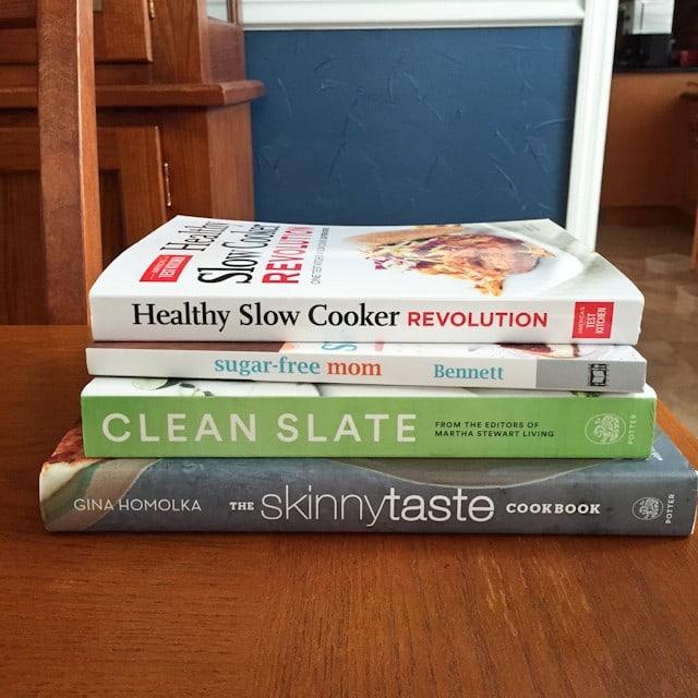 Healthy Cookbook Giveaway - Skinnytaste, Clean Slate, sugar-free mom, Healthy Slow Cooker