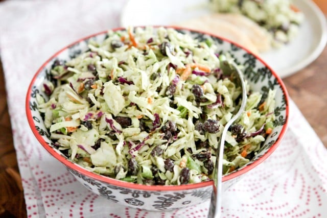 This Mexican Slaw Salad with Black Beans is a nice change up from traditional cole slaw. Serve it in tacos, or as a side dish to quesadillas or grilled chicken.