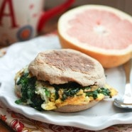 Spinach and Egg Breakfast Sandwich | www.aggieskitchen.com