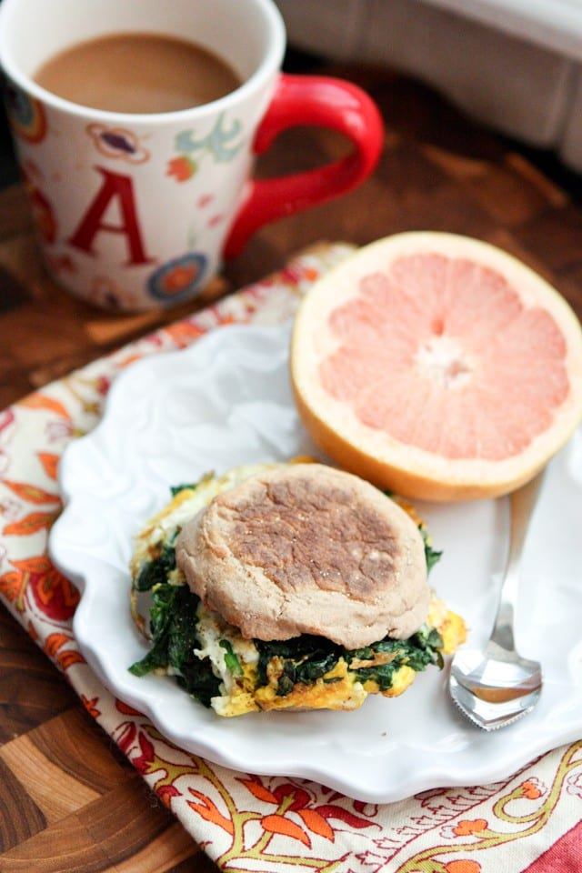 Spinach and Egg Breakfast Sandwich | www.aggieskitchen.com