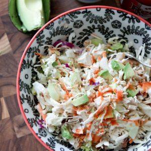 Buffalo Chicken Slaw Salad || Aggie's Kitchen