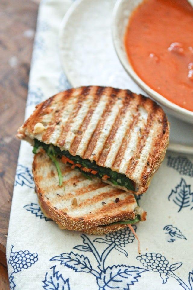 Hummus and Veggie Panini || Aggie's Kitchen