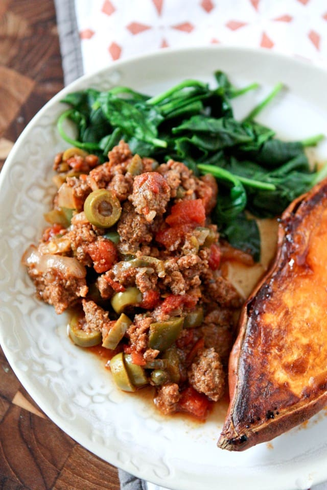 This Slow Cooker Picadillo from The Skinnytaste Cookbook is a wonderful family friendly meal that is full of flavor and easy on the waistline. Great weeknight meal!