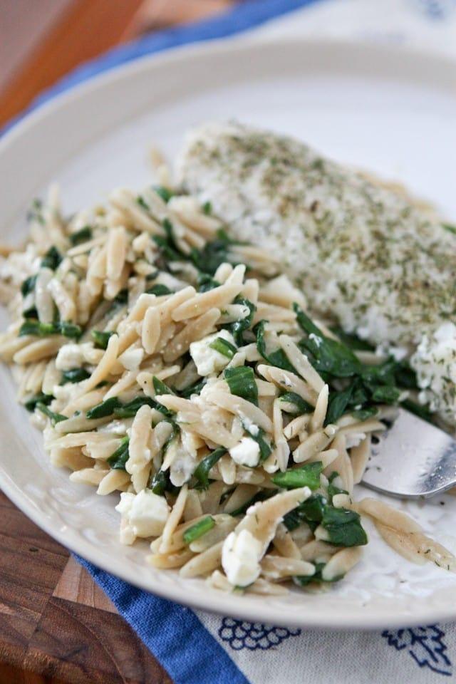 Spinach Feta Orzo || Aggie's Kitchen