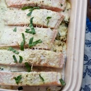 Salmon Spinach Bake {sugar-free mom cookbook}
