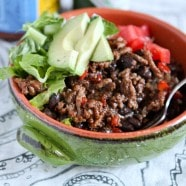 Taco Turkey & Black Bean Rice Bowls || Aggie's Kitchen