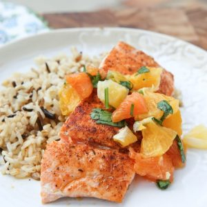 Pan Seared Blackened Salmon with Citrus Salsa || Aggie's Kitchen