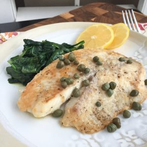 Parmesan Crusted Fish with Lemon and Capers | Aggie's Kitchen