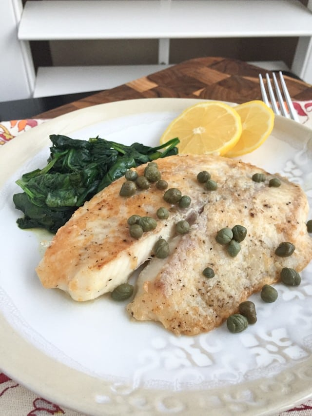 Parmesan crusted fish with lemon and capers for Lemon butter caper sauce for fish