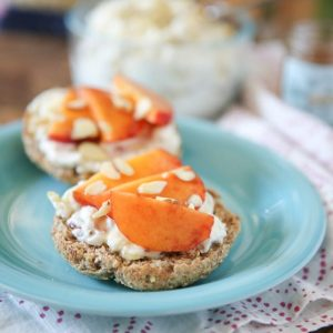 Honey Almond Ricotta Spread with Peaches