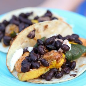 Chicken and Summer Squash Fajitas
