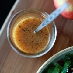 Love this Maple Vinaigrette over kale salads with sliced apples and cranberries.