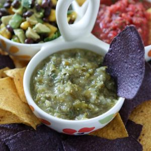 Roasted Tomatillo Salsa | Aggie's Kitchen