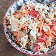 Ceasar Pasta Salad with Chickpeas
