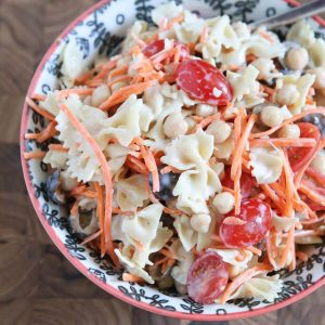 Ceasar Pasta Salad with Chickpeas