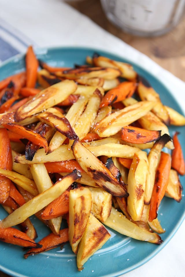 recipe: roasted parsnips and carrots with maple syrup [34]