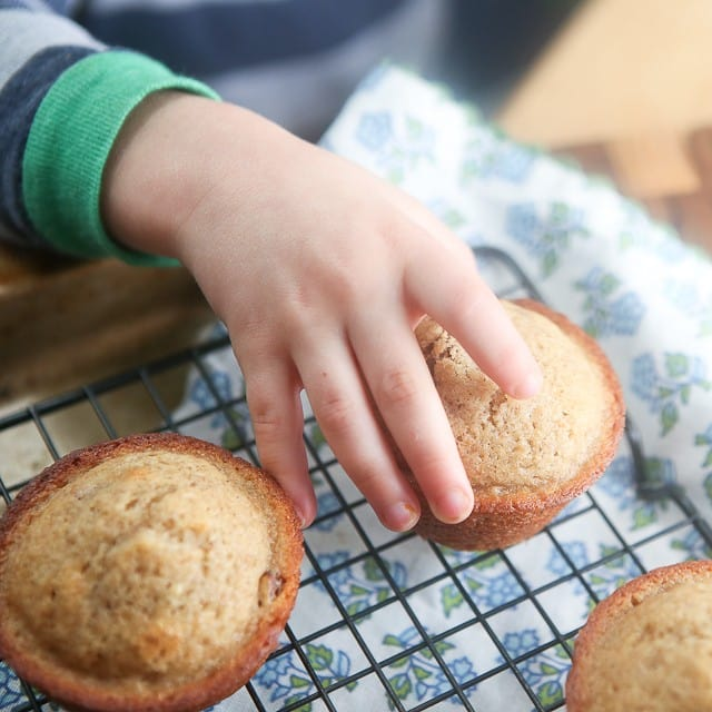 You can't help but love these Cinnamon Banana Nut Muffins. #ad