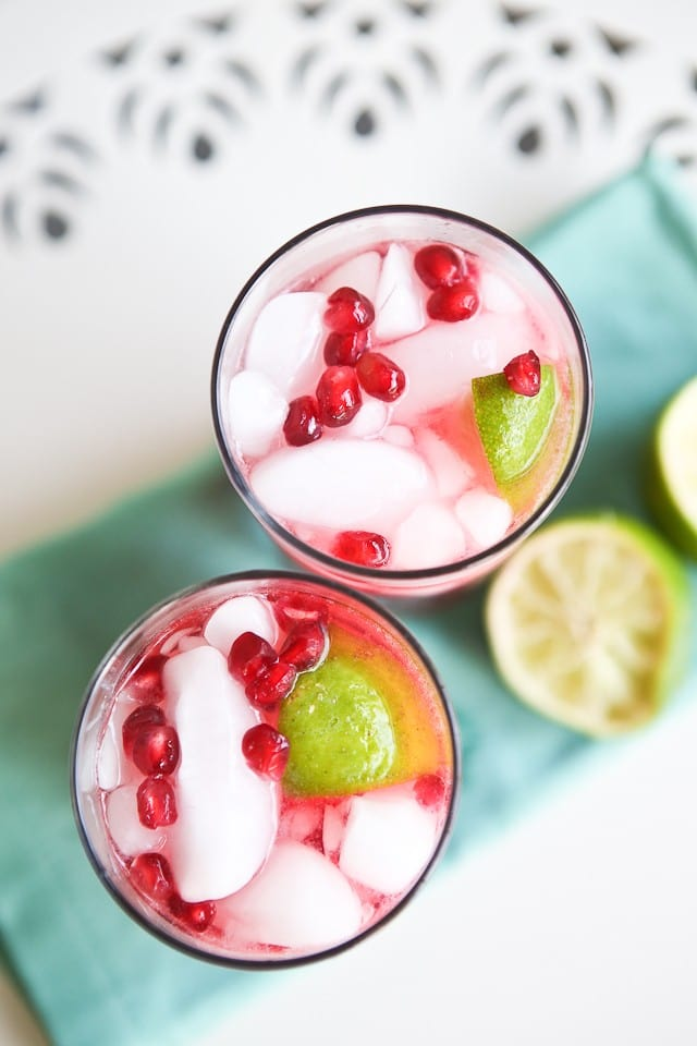 Pomegranate Drinks With Rum