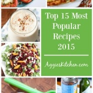 Top 15 Most Popular Recipes From 2015 | Aggie's Kitchen