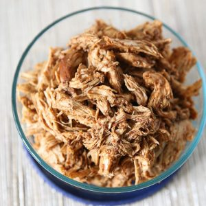 Make a weekly batch of this Slow Cooker Shredded Barbecue Chicken recipe - so many ways to use it in meals!