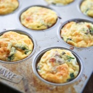 Baked Sausage and Mushroom Frittata Muffins