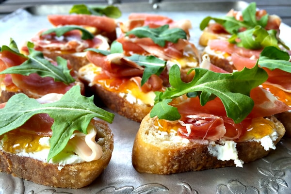 Proscuitto Goat Cheese Crostini from Reluctant Entertainer