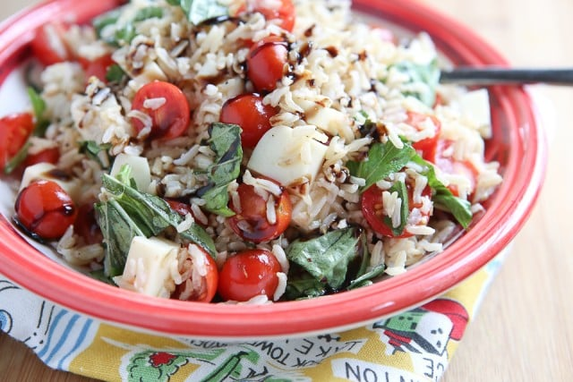 Caprese Rice Salad - Aggie's Kitchen