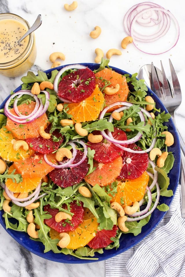 Citrus Salad with Orange Poppyseed Dressing from A Farmgirl Dabbles