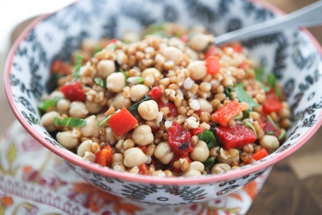 This Italian Wheat Berry Salad is simple, fresh and full of delicious flavor, protein and fiber. Perfect for picnics or barbecues!