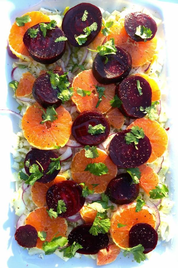 Orange Beet Fennel Salad from Reluctant Entertainer