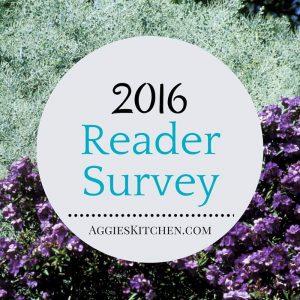 Reader Survey for AggiesKitchen.com