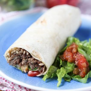 My family always asks for burritos for dinner! So easy to make, you can even make ahead for quick dinner on busy nights. These Turkey and Black Bean Burritos are delicious! Recipe via aggieskitchen.com