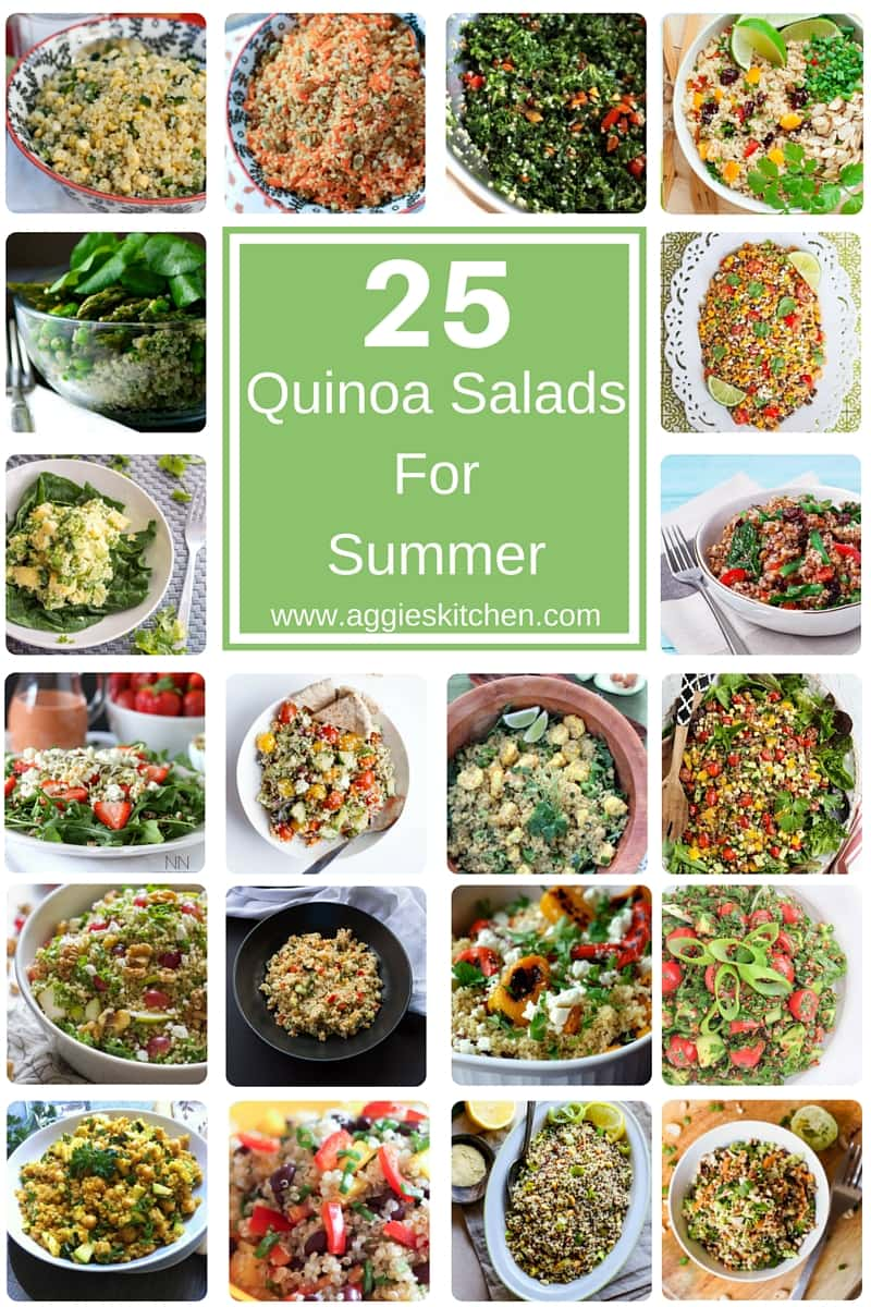25 Quinoa Salads for Summer - lighten up this summer with these amazing and healthy quinoa salad recipes!