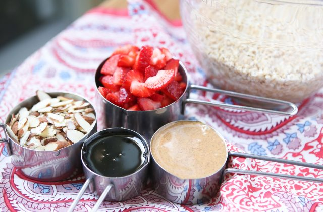 Great for feeding a crowd at breakfast, or for meal prep! My family loves this Strawberry Almond Baked Steel Cut Oatmeal - add yogurt and fresh fruit for a powerful start to your day! Recipe via aggieskitchen.com